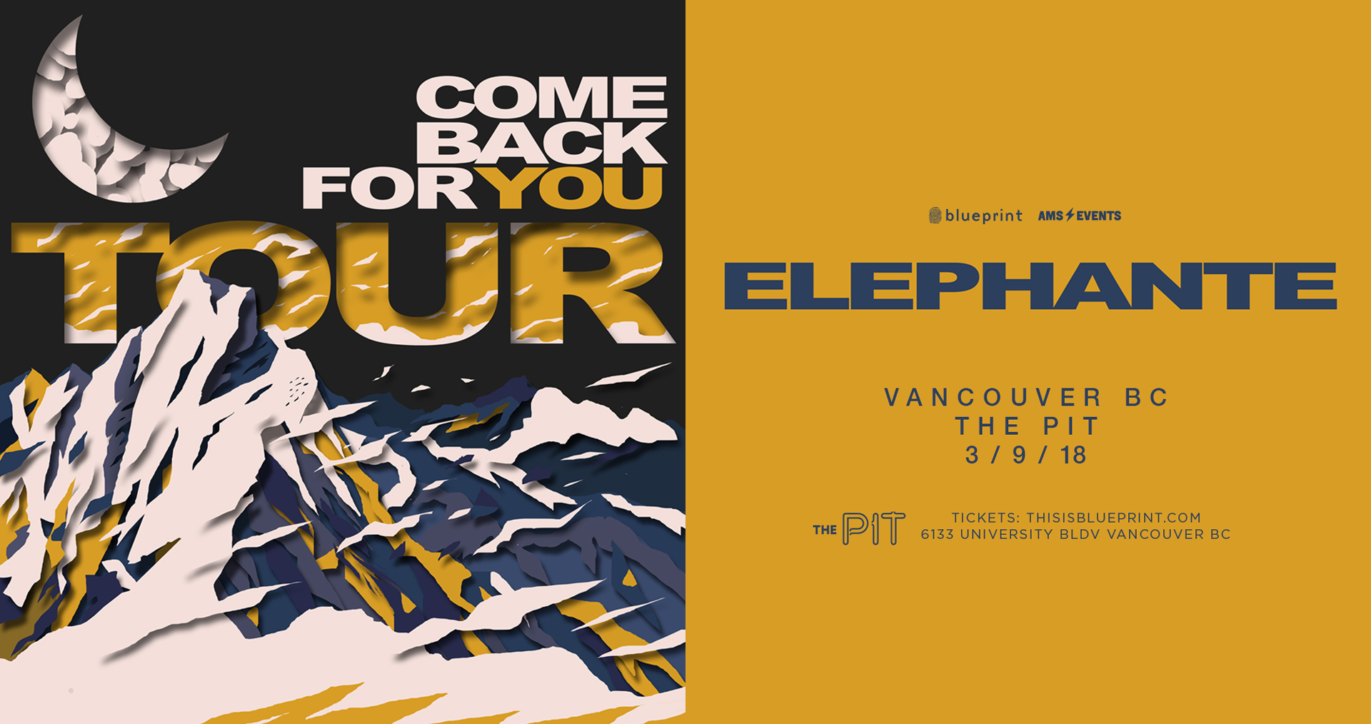Elephante at the pit the pit pub vancouver mar 10 2018 showpass malvernweather Image collections
