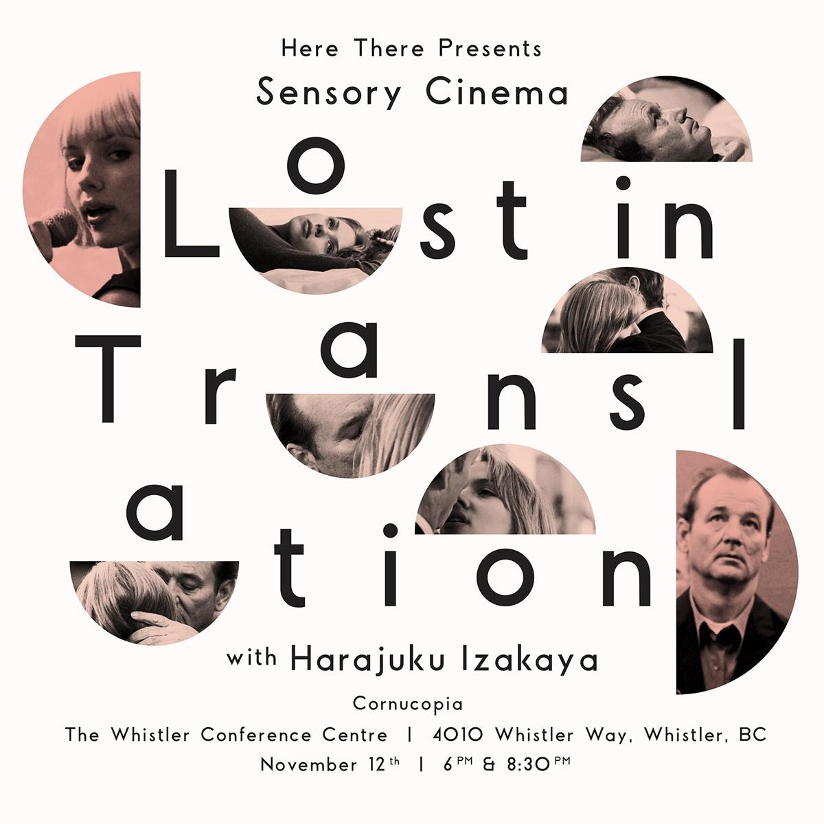 Sensory Cinema: Lost in Translation with Harajuku Izakaya - 8.30 PM